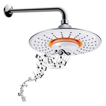 Wireless musical showerhead waterproof speaker bluetooth shower arm brand new thumb200