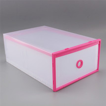Clear Plastic Shoe Box Stackable Home Storage Boxes Drawer Container Holder - $27.18