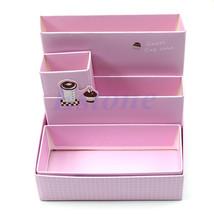 Creative DIY Paper Board Storage Box Desk Decor Stationery Makeup Cosmet... - $9.30