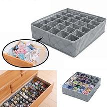 Foldable Underwear Socks Drawer Organizer Storage Box Useful 30 Cells Co... - $12.31