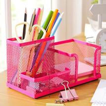 Hoomall Office Desktop Storage Box Holder Cold Rolled Steel Pen Box Rack... - $20.18