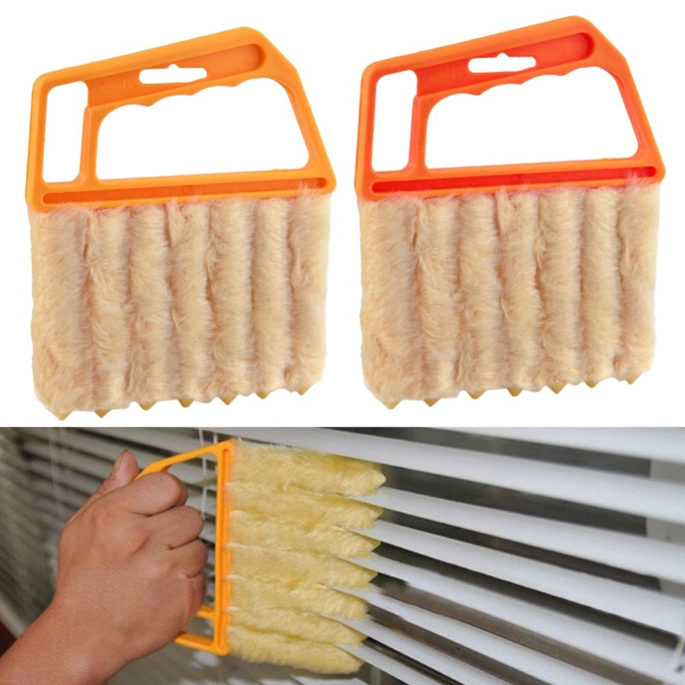 Microfibre Venetian Blind Brush Window Air Conditioner Duster Dirt Cleaner Clean Carpet Steamers