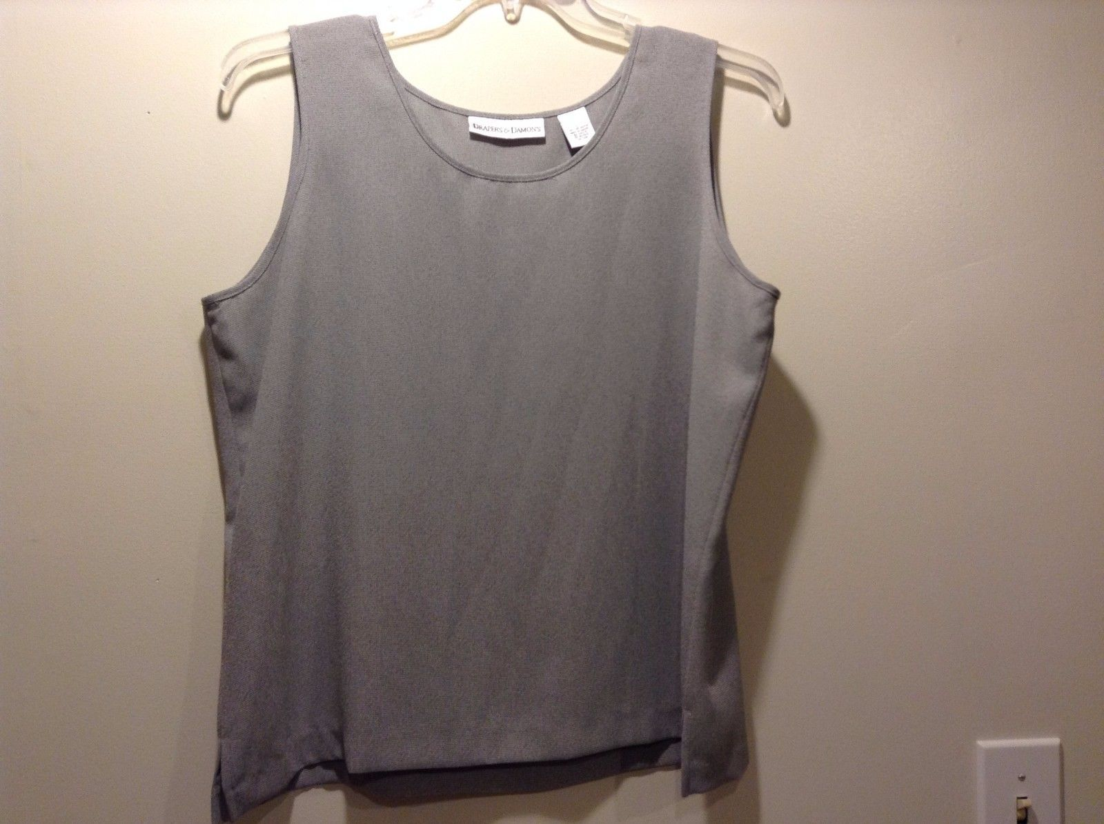 Used Great Condition Draper's and Damon's Large Semi Sheer Gray Tank Top