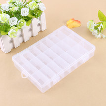 Plastic 24 Slots Jewelry Pills Tool Box Case Craft Organizer Beads Stora... - $13.19