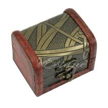 Retro Jewelry Pearl Bracelet Necklace Storage Organizer Wooden Case Box ... - $9.58