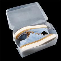 Stackable Storage Box Thick Boot Shoe Organizer Transparent Plastic Fold... - $9.80