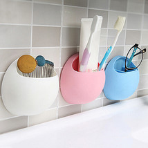 Toothbrush Sucker Holder Suction Cup Organizer Rack Bathroom Kitchen Sto... - $9.11
