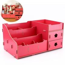 Wooden Storage Box Jewelry Container Makeup Organizer Case Handmade DIY ... - $29.45