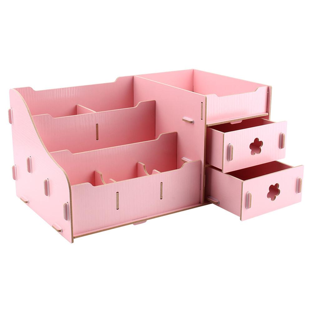 wooden storage box jewelry container makeup organizer case