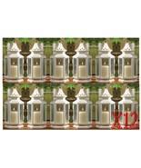 12 Medium White Victorian Style Candle Lanterns Wedding Events Centerpie... - $151.47