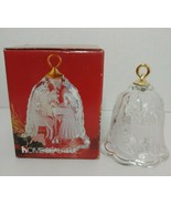 Mikasa Home Beautiful Little Angel Frosted Glass Christmas bell in box G... - $9.89