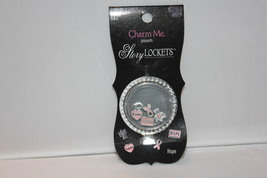 """Charm Me Present """"Hope"""" Story Lockets Metal Charms Asst 5 piece New #2 - $7.99"""