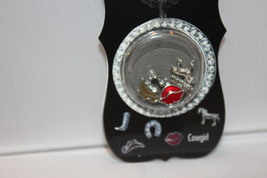 "Charm Me Present ""Cowgirl"" Story Lockets Metal Charms Asst 5 piece New  - $7.99"