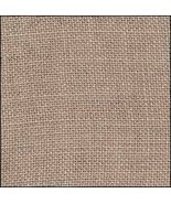 FABRIC CUT 30ct creek bed brown linwn 10x10 for... - $7.00
