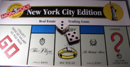 "1996 ""New York City Edition"" Monopoly Game - $73.04"