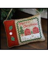 Merry Christmas Pillow cross stitch chart Littl... - $5.40