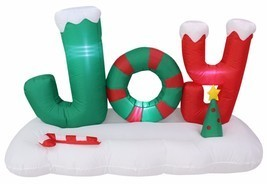 5 Foot Tall Christmas Air Blown Inflatable JOY to The World LED Yard Dec... - €75,55 EUR