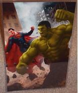 Hulk vs Superman Glossy Art Print 11 x 17 In Hard Plastic Sleeve - $24.99