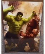 Incredible Hulk vs Juggernaut Glossy Art Print 11 x 17 In Hard Plastic S... - $24.99
