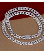 "10mm 24"" 925 Sterling Silver Curb Chain US SELLER - $34.99"