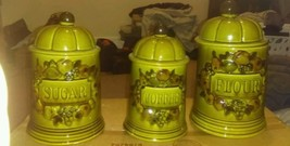 Vintage 1967 Los Angeles Pottery 3 Piece Canist... - $15.83