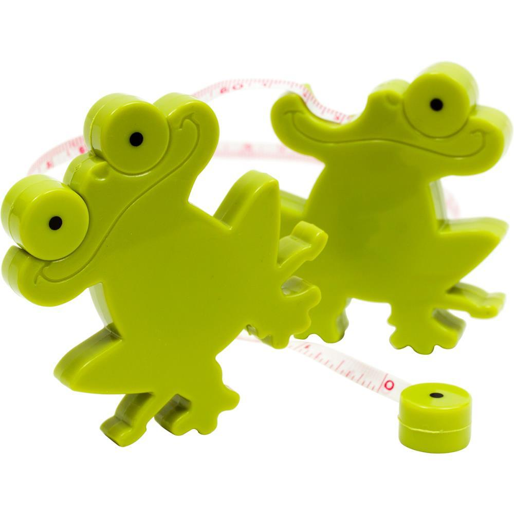 """Frog Retractable Tape Measure 100cm/40"""" metric inches sewing quilting stitching - $3.00"""