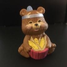 Hallmark Merry Miniatures Thanksgiving Native American Bear - $2.96