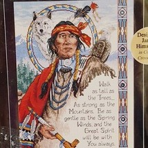 Native American Wisdom Dimensions Cross Stitch Kit Charts and Charms 723... - $48.89