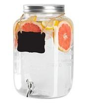 Outdoor Glass Beverage Dispenser - 2 Gallon Drink Dispenser for Lemonade... - $33.83 CAD