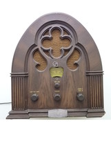 Philco-Ford AM FM Radio Model R91 Baby Grand Special Edition Cathedral, ... - $55.00
