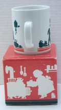Christmas Cup Mug Mrs. Santa Claus Elves Kitchen Cooking 1984 Avon Orig Box - $19.79