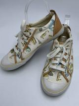 Coach 7.5 Barrett Nautical Beach Print Canvas Shoes Seahorse Star Sailboat - $34.99