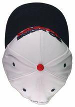 Flat Fitty Do More Work Wiz Khalifa SnapBack Baseball Cap Hat Red White Blue NWT image 6
