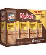 Lance Cookie Sandwiches, Lemon Crème Nekot, 8 Count Boxes (Pack of 14) - $62.11