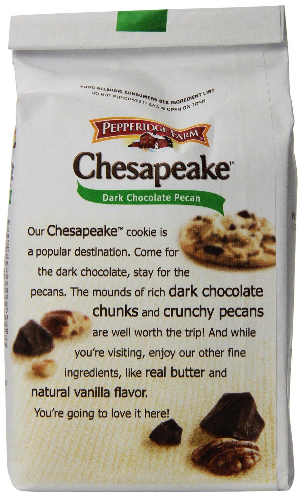 Pepperidge Farm Chesapeake, Crispy, Cookies, Dark Chocolate Pecan, 7.2 oz, Bag,  image 6