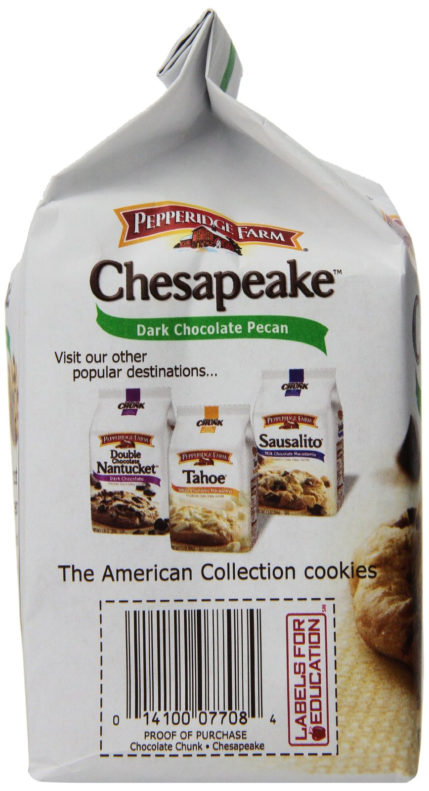 Pepperidge Farm Chesapeake, Crispy, Cookies, Dark Chocolate Pecan, 7.2 oz, Bag,  image 7