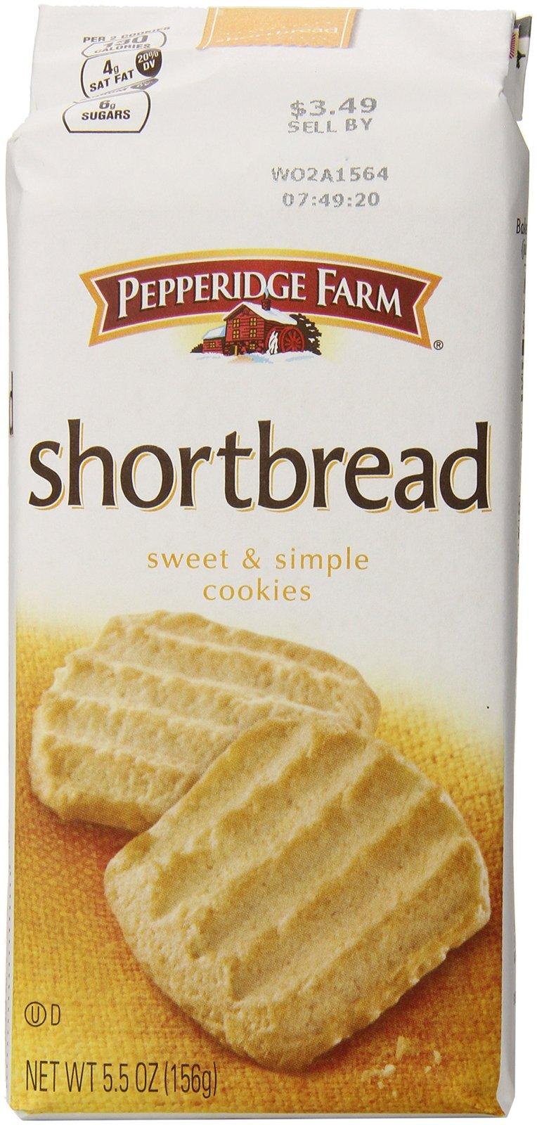 Pepperidge Farm Shortbread Cookies, 5.5 oz. Bag