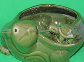 Lucky Bamboo handmade green glazed turtle vase exclusively from JM Bamboo - $15.99