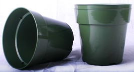 50 NEW 6 Inch Standard Plastic Nursery Pots ~ Pots ARE 6 Inch Round At the To... - $22.99