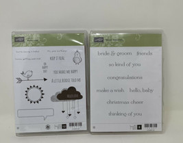 Stampin Up! Sweet Essentials & Hello Love Clear Mount Stamp Set Lot  - $15.83