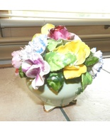 Adderley Floral Bouquet in Mint Bowl, Bone China - England - $19.99