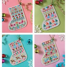 Mini Christmas Stockings cross stitch chart Satsuma Street - $10.80