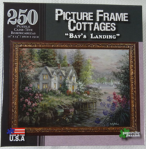 """250 Piece Puzzle Picture Frame Cottages """"Bay's Landing"""" [Brand New] - $20.02"""