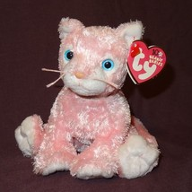 Carnation Pink Cat Kitty Ty Beanie Baby Plush Stuffed Animal Toy 2002 wi... - $11.33