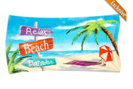 "Beach Towel ""Relax Beach Paradise"" 30 x 60"" Lig... - $16.95"
