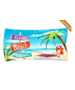 "Beach Towel ""Relax Beach Paradise"" 30 x 60"" Lightweight 100 % Cotton Col... - £12.84 GBP"