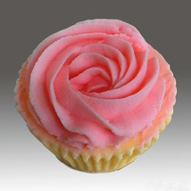 CUPCAKE 161001 - Detail of high relief sculpture,silicone mold, soap mold - $21.78