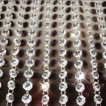 100M14mm Octagon Acrylic Crystal Glass Garland Strand Beads Event Party Pendants - $117.48