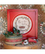 H is for Holly Alphabet Series #3 chart Heartst... - $9.00