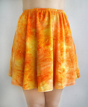 Orange-yellow Velvet Skirt, Sparkly multi-color, Size S, New - $12.00